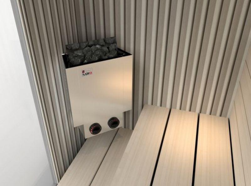 Электрическая печь SAWO NORDEX MINI NRMN-23NB-Z (2,3 кВт, встроенный пульт, внутри оцинковка, снаружи нержавейка)