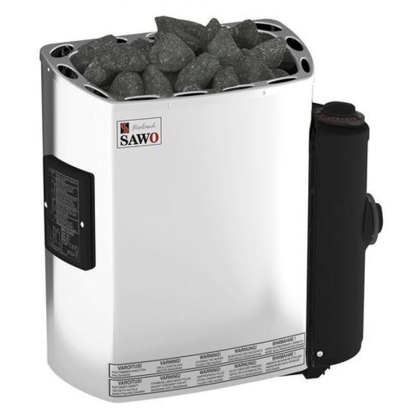Электрическая печь SAWO MINI MN-23NB-Z (2,3 кВт, встроенный пульт, внутри оцинковка, снаружи нержавейка)