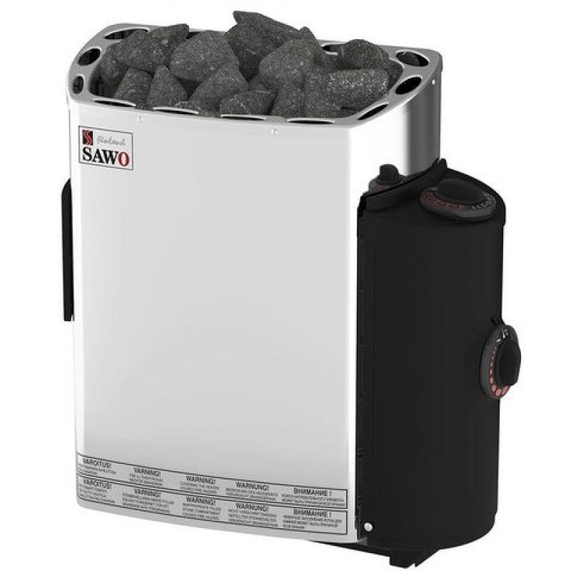 Электрическая печь SAWO MINI MN-36NB-Z (3,6 кВт, встроенный пульт, внутри оцинковка, снаружи нержавейка)