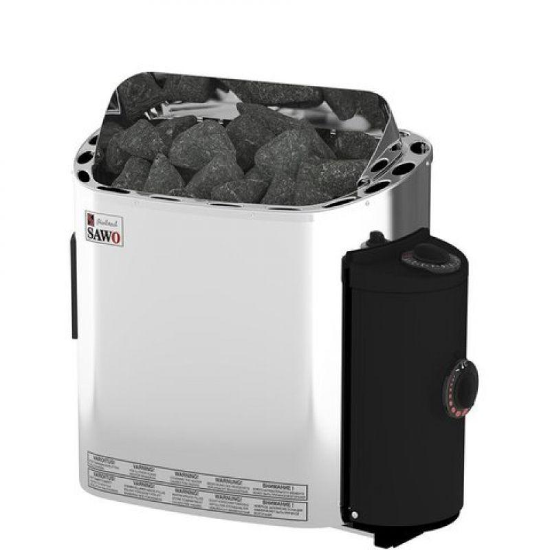Электрическая печь SAWO SCANDIA SCA-90NB-Z (9 кВт, встроенный пульт, внутри оцинковка, снаружи нержавейка)