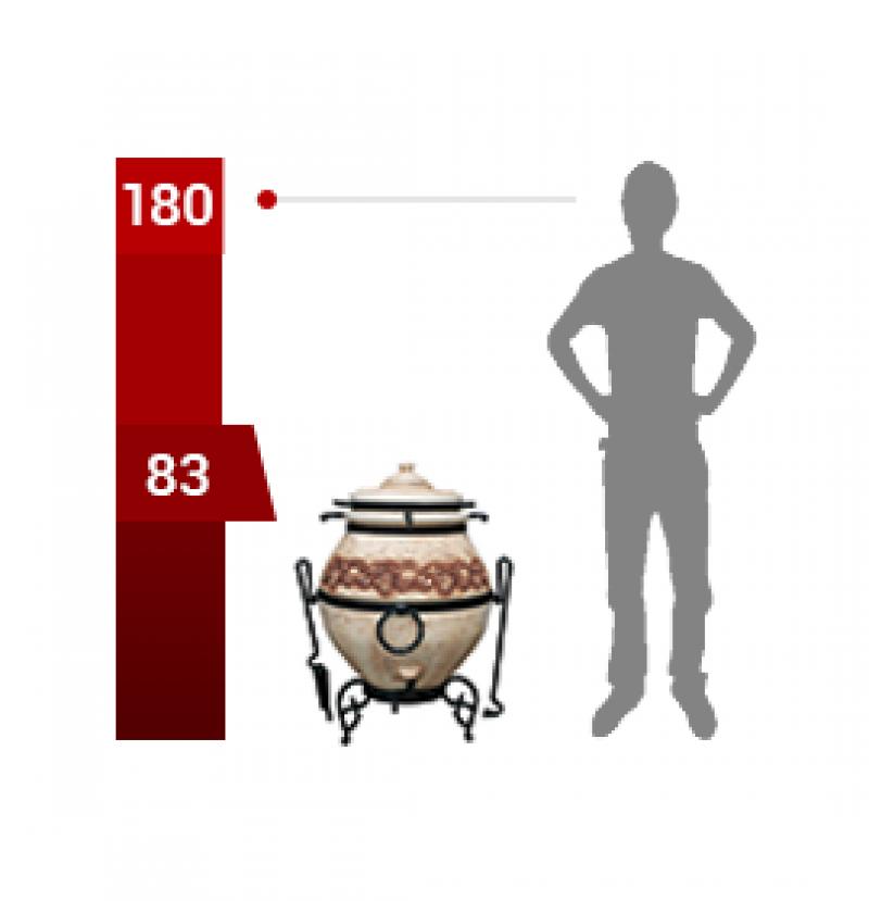 Тандыр «Легенды» с эффектом кракле