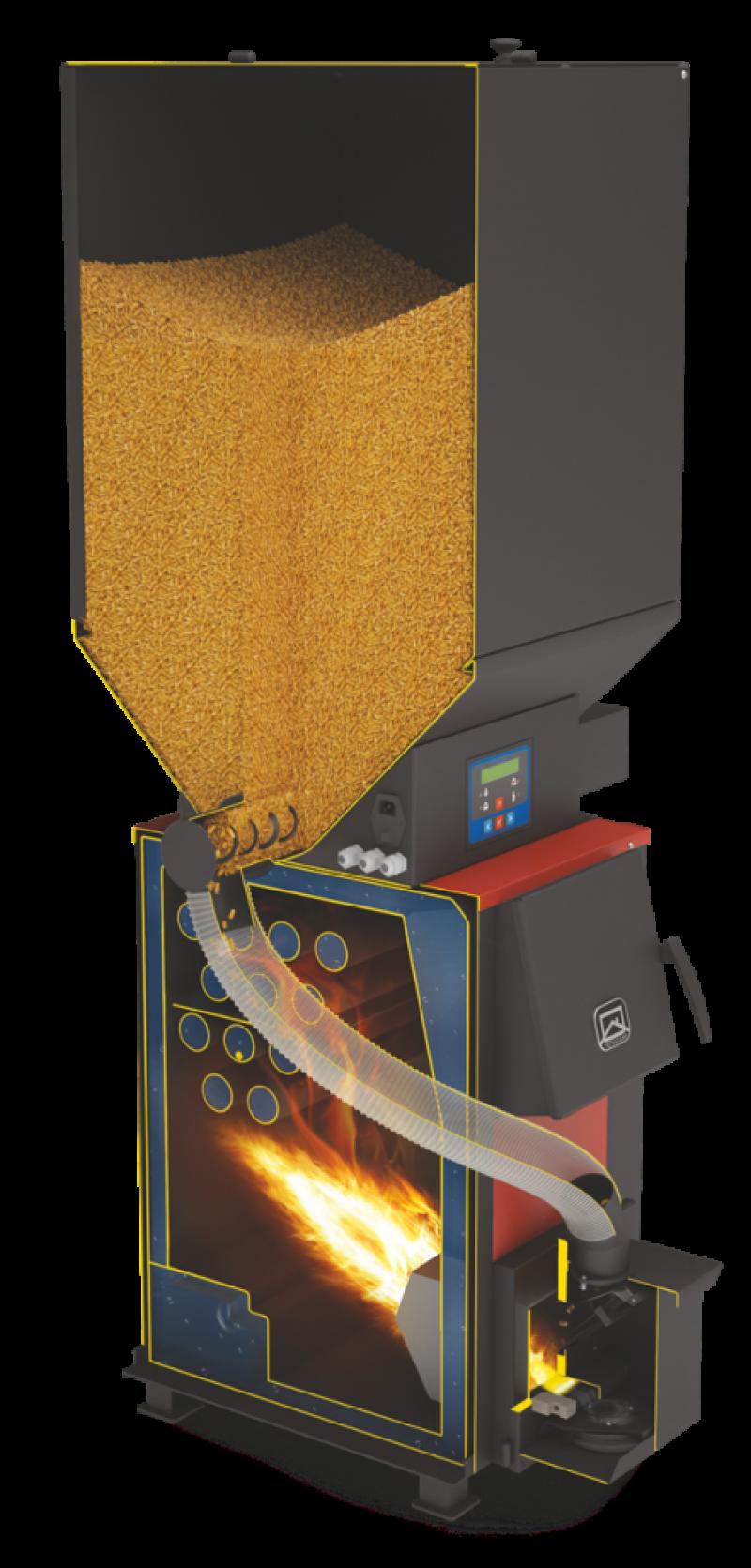 Отопительный котел Куппер ОК 9 с пеллетной горелкой АПГ25