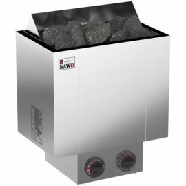 Электрическая печь SAWO NORDEX NRX-45NB-Z (4,5 кВт, встроенный пульт, внутри оцинковка, снаружи нержавейка)