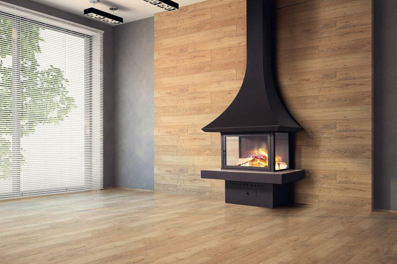 Камин пристенный дровяной для дома. Модель LOFT - 09