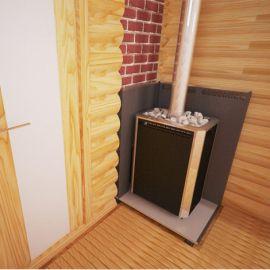 Печь для бани и сауны Сахара 16 ЛК ПРОФИ с АГГ20П*