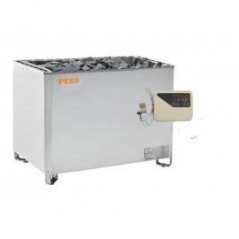 Электрическая печь для сауны PEKO EHGF-120/EHGF-150 Steel (выносной п/у в комплекте)